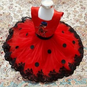 لباس دختر کفشدوزکی مجلسی-تصویر 2