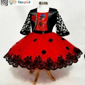 لباس دختر کفشدوزکی مجلسی-تصویر 3
