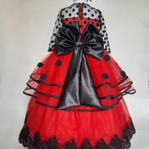 لباس مجلسی دختر کفشدوزکی-تصویر 2