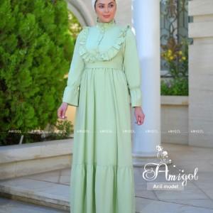 پیراهن شب زنانه کرپ مدل انیل-تصویر 3