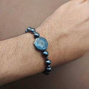 دستبند حدید سلیمان منقش به ستاره داوود-تصویر 2