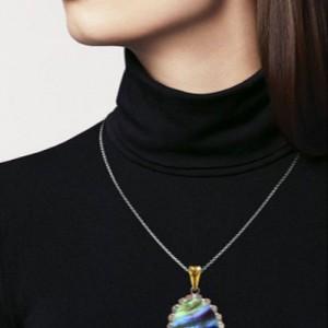 گردنبند نقره صدفی زنانه برند ماسیا-تصویر 2