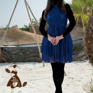 پیراهن مهمانی زنانه کرپ مدل عروسکی-تصویر 4