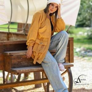 مانتو زنانه مخمل مدل اسپرت-تصویر 2