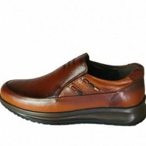 کفش مجلسی مدل اسپورت تمام چرم سناتور عسلی-تصویر 4