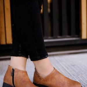 کفش تخت مدل کرال زیره پیو،پشت چرم Ma-تصویر 2