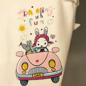 سه تیکه نوزادی خرگوش ماشین سوار-تصویر 5