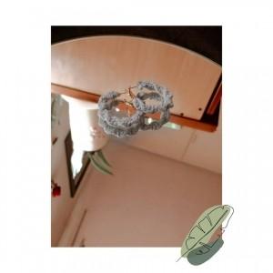 گوشواره دستبافت مکرومه-تصویر 2