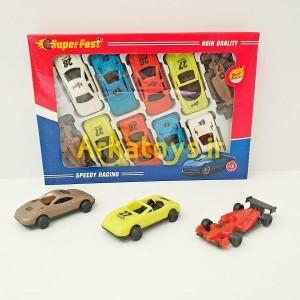 مجموعه ماشین مسابقه ای 10 عددی مدل super fast-تصویر 2