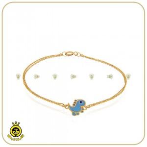 دستبند طلای کودکانه با طرح دایناسور