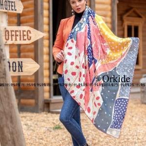 روسری ابریشم فاستونی دیجیتال 166-25