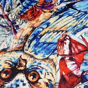 روسری ابریشم فاستونی دیجیتال 166-24-تصویر 4