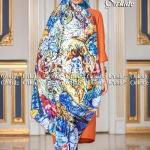 روسری ابریشم فاستونی دیجیتال 166-24