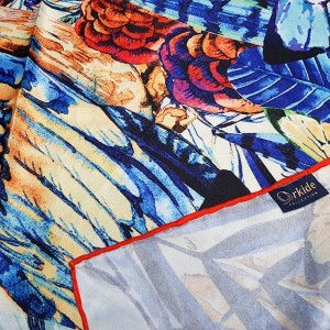 روسری ابریشم فاستونی دیجیتال 166-24-تصویر 5