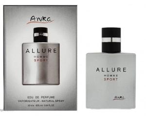 عطر مینی مردانه آنیکا Anika مدل ALLURE HOMME SPORT