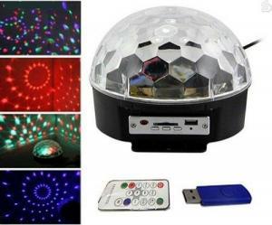 دستگاه رقص نور  LED کریستالی و MP3 Player به همراه ریموت کنترل