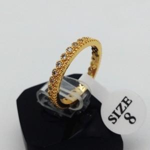 حلقه استیل نگین دار