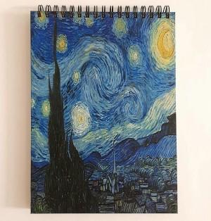 دفتر جلد سخت شب پر ستاره