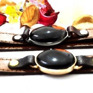 ست دستبند مردانه و زنانه چرم با نگین عقیق-تصویر 5