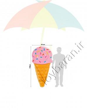 تشک روی آب اینتکس طرح بستنی قیفی-تصویر 2