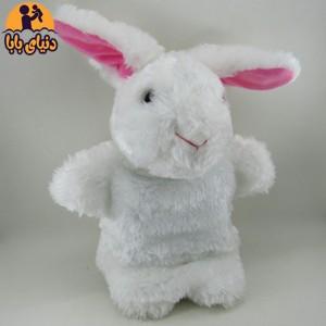عروسک نمایشی خرگوش سفید برند گلدونه