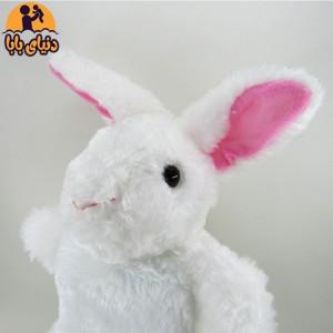 عروسک نمایشی خرگوش سفید برند گلدونه-تصویر 2