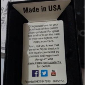 فندک اورجینال آمریکایی ZIPPO-تصویر 2
