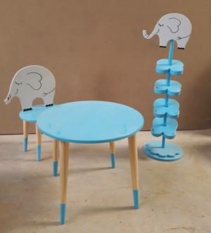 جا کفشی و میز و صندلی مدل فیل