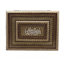 جعبه جا قرآنی خاتم کاری-تصویر 3