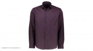 پیراهن جعبه ای مردانه ادموند طرح ساده ارغوانی-تصویر 2