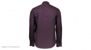 پیراهن جعبه ای مردانه ادموند طرح ساده ارغوانی-تصویر 4