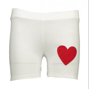 ست تاپ نیم تنه و شلوارک زنانه مدل قلب-تصویر 4