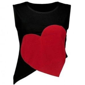 ست تاپ نیم تنه و شلوارک زنانه مدل قلب-تصویر 3