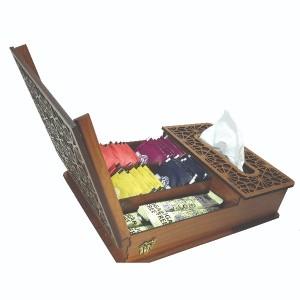 جعبه پذیرایی جعبه دستمال کاغذی جعبه دمنوش کد LB17-00-تصویر 2