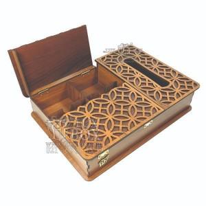 جعبه پذیرایی جعبه دستمال کاغذی جعبه دمنوش کد LB17 - 01-تصویر 3