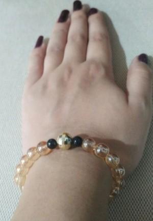 دستبند مروارید طلایی-تصویر 2