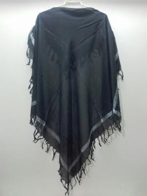 روسری مشکی لمه دار-تصویر 2