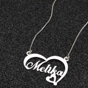 گردنبند نقره اسم ملیکا-تصویر 3