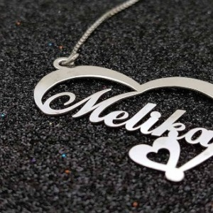 گردنبند نقره اسم ملیکا-تصویر 2