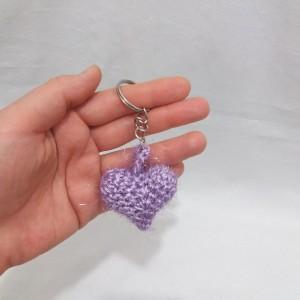 پک ۳ تایی آویز مدل قلب قلاب بافی-تصویر 5
