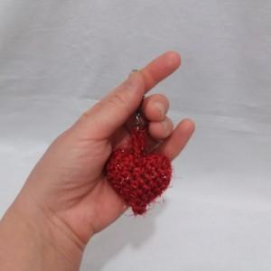 پک ۳ تایی آویز مدل قلب قلاب بافی-تصویر 2