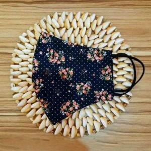ماسک پارچه ای گلدار کد: BH-۰۰۴