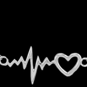 گردنبند نقره مدل ضربان قلب heartbeat-تصویر 2