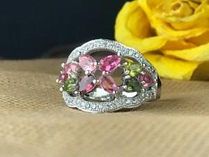 انگشتر جواهری زیبای ترمالین اصل