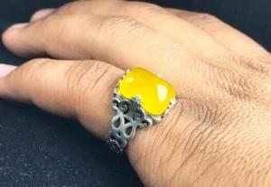 انگشتر عقیق زرد شرف شمس-تصویر 2