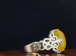انگشتر عقیق زرد شرف شمس-تصویر 3