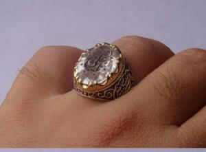 انگشتر در نجف اصل خطی منقش به  یاعلی(ع)-تصویر 2