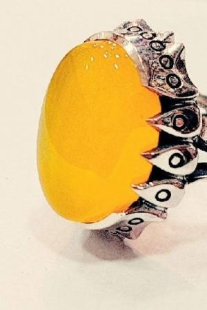 انگشتر نقره مردانه مدل p580-تصویر 2