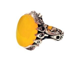 انگشتر نقره مردانه مدل p580