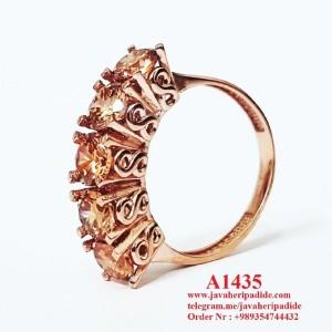 انگشتر نقره زنانه طلا زرد